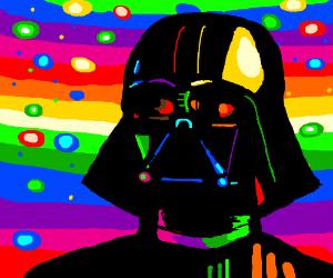 Darth Vader Tastes The Rainbow (Skittles)