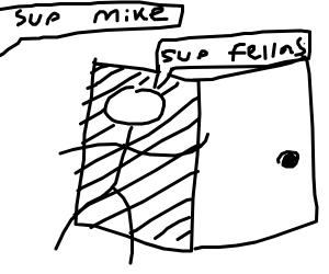 MICHAEL MAKES AN ENTRANCE
