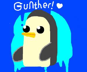 someone drew a penguin
