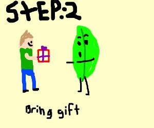 Step 1: Rejoin BFB, Leafy - Drawception