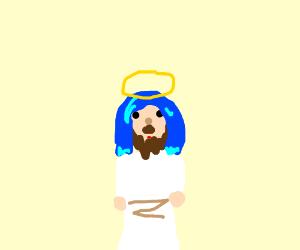 if jesus had blue hair