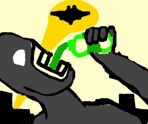 Batman drinking mtn dew