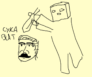 Joseph Stalin gets assassinated by MC zombie