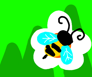 Bee working
