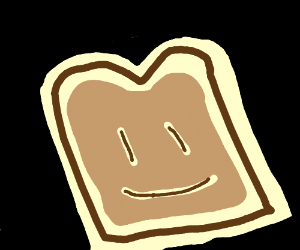 Smiling slice of bread
