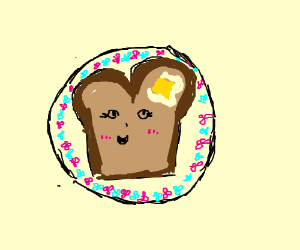 cute buttered toast