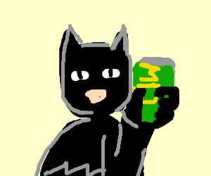 Batman drinks Mountain Dew