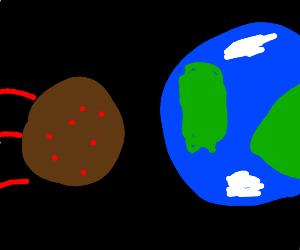 Meteors hit Earth