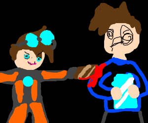 Tracer shanks widowmaker with a rusty knife